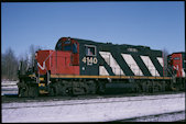 CN GP9RM 4140 (02.2003, Brockville, ON)