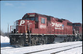 CP GP38-2 3025 (01.2007, Smiths Falls, ON)