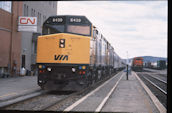 VIA F40PH-2 6439 (04.05.1995, Capreol, ON)