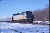 VIA F40PH-2 6455 (01.2011, Brockville, ON)